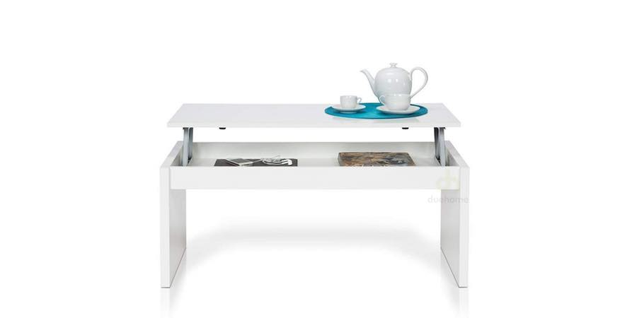 Mesa de centro elevable blanca