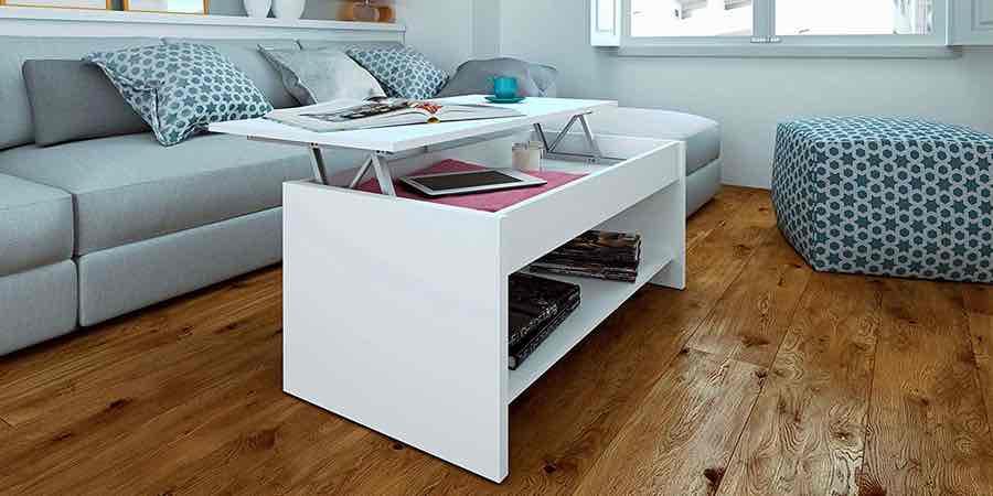 Mesa de centro elevable blanca, mesa de centro baja, mesas de centro oferta, mesa centro elevable con cajones