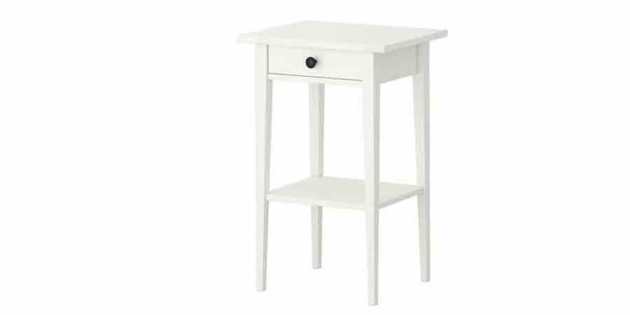 Mesita de noche Ikea Hemnes, ikea mesita, ikea mesas, ikea mesitas de noche, mesitas ikea, mesa elevable blanca ikea,