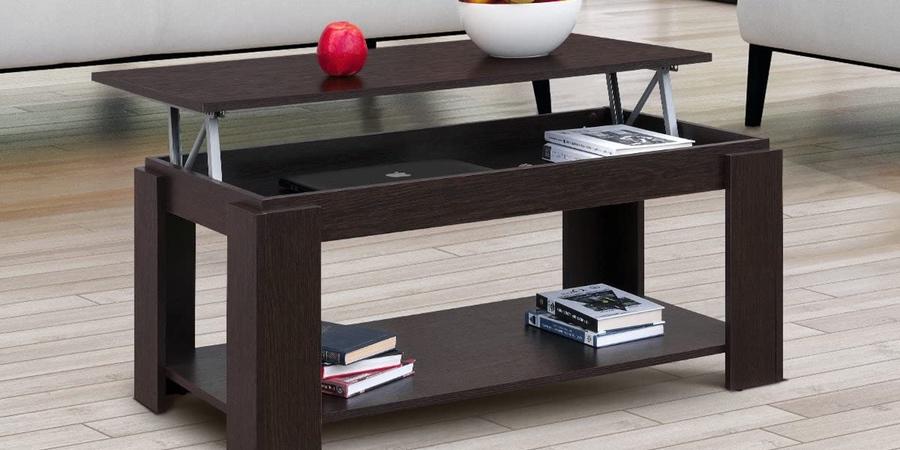 Comprar mesa de centro elevable color Wengue en Ikea, mesa centro salón elevable ikea, mesa pequeña elevable ikea, ikea mesa salón elevable